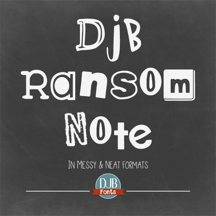 DJB Ransom Note Font poster