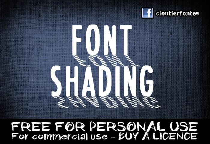 CF Font Shading  poster