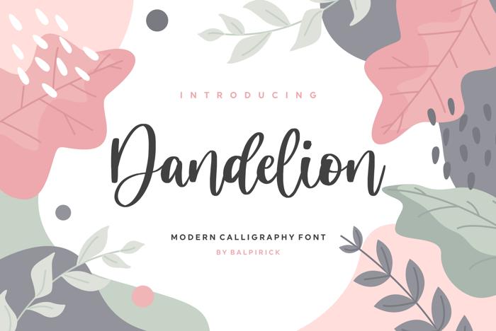 Dandelion Font poster