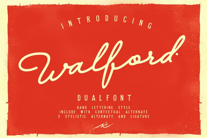 Walfords Font poster