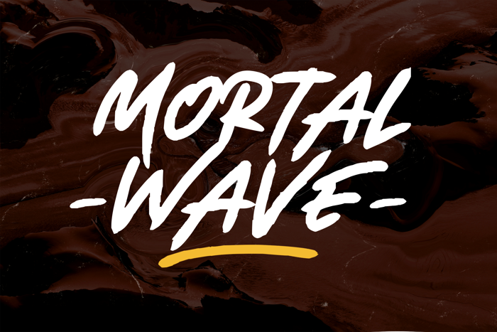 Mortal Wave Font poster