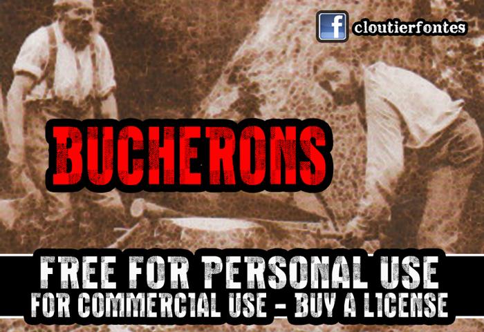 CF Bucherons Font poster