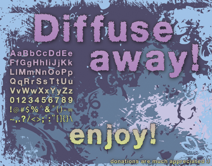 Diffuse-Away Font poster