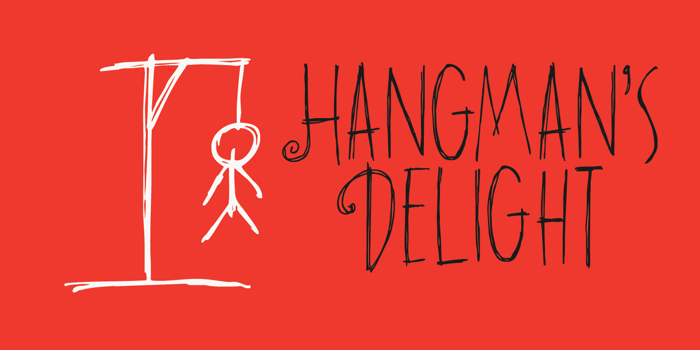 DK Hangmans Delight Font poster