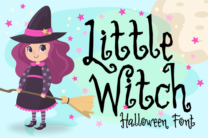 Little Witch Font poster