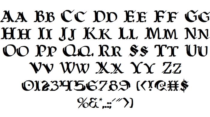 Wars of Asgard Font poster