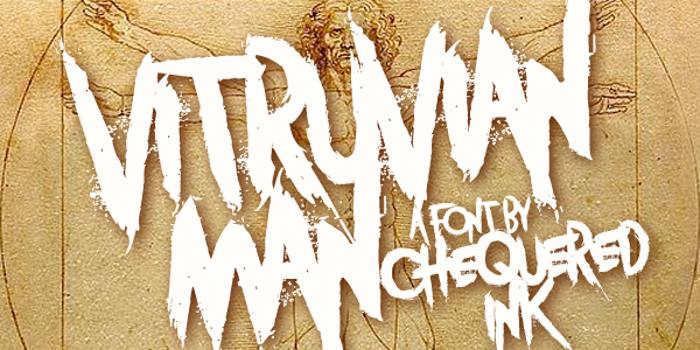 Vitruvian Man Font poster