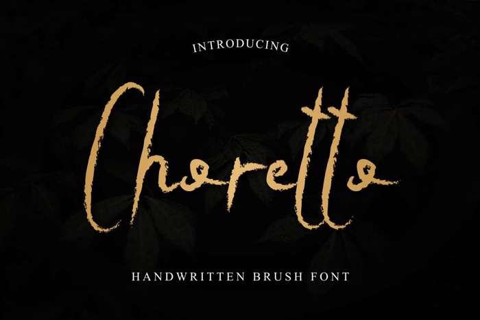 Choretto Font poster