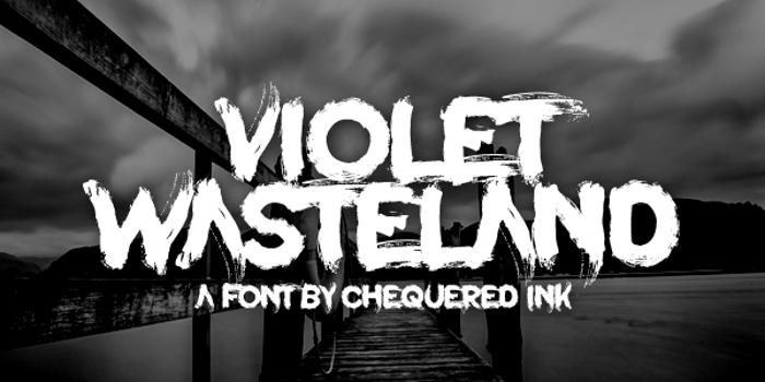 Violet Wasteland Font poster