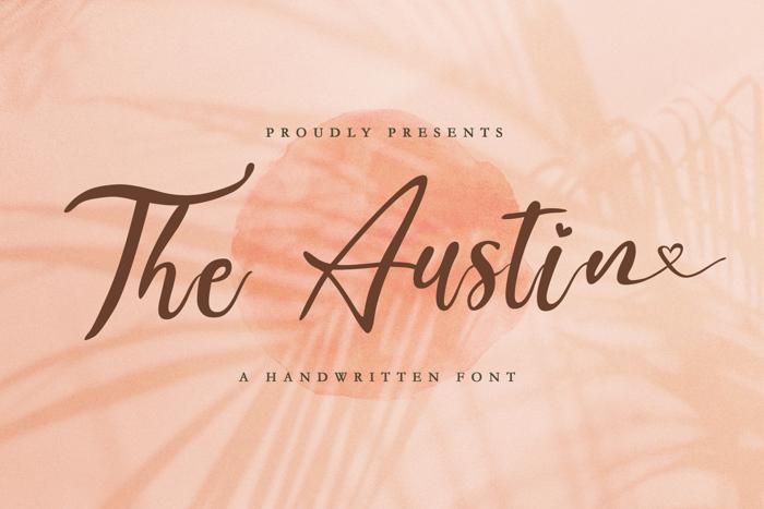 The Austin Font poster