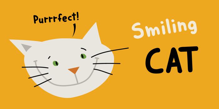 DK Smiling Cat Font poster