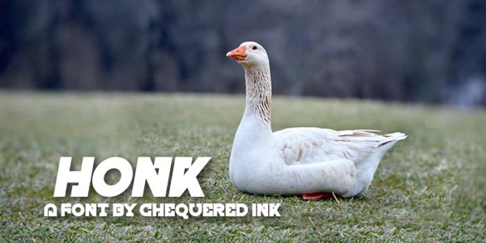Honk Font poster