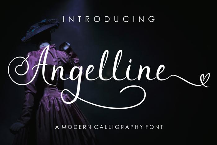 Angelline Font poster