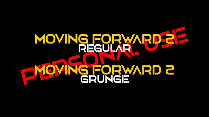 Moving Forward II Font poster
