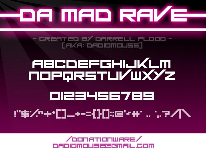 Da Mad Rave Font poster
