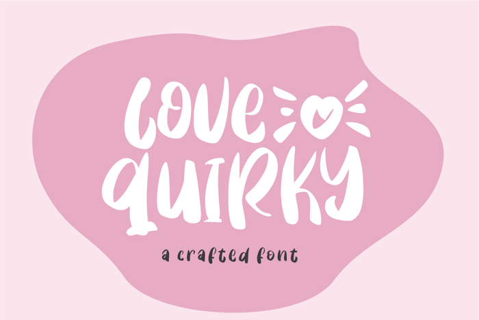 Love Quirky Font poster