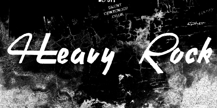 Heavy Rock Font poster