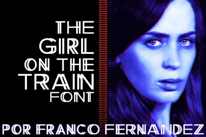 The Girl on the Train Font poster