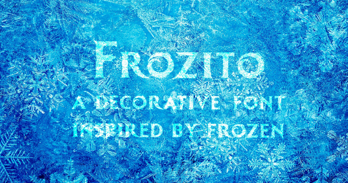 Frozito Font poster