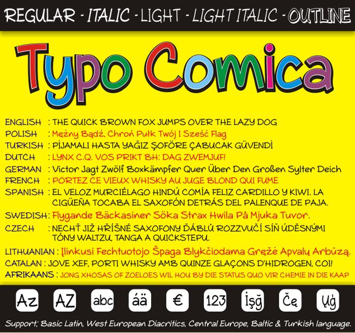 Typo Comica Font poster