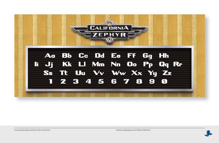 California Zephyr Font poster
