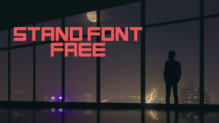 Stand Font poster