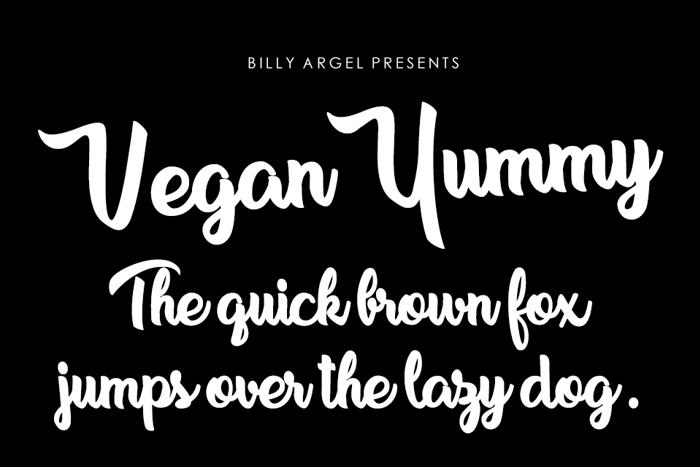 Vegan Yummy Font