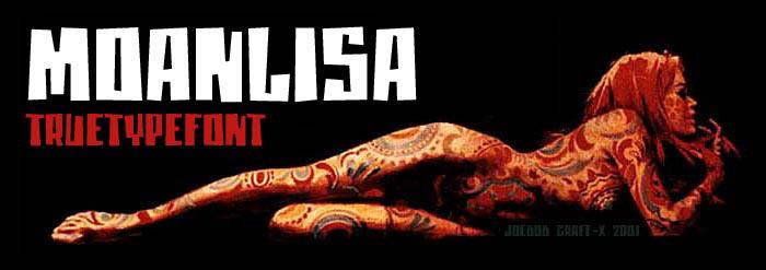 moanLisa Font poster