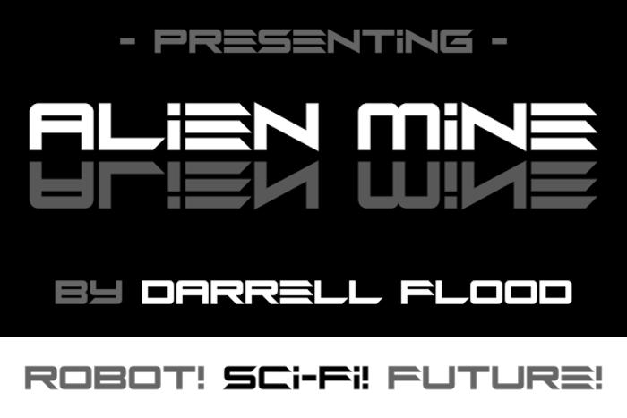 Alien Mine Font poster