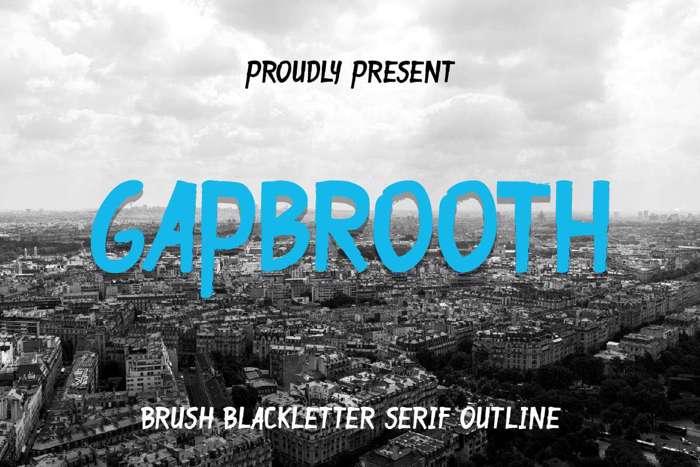 Gapbrooth Font poster