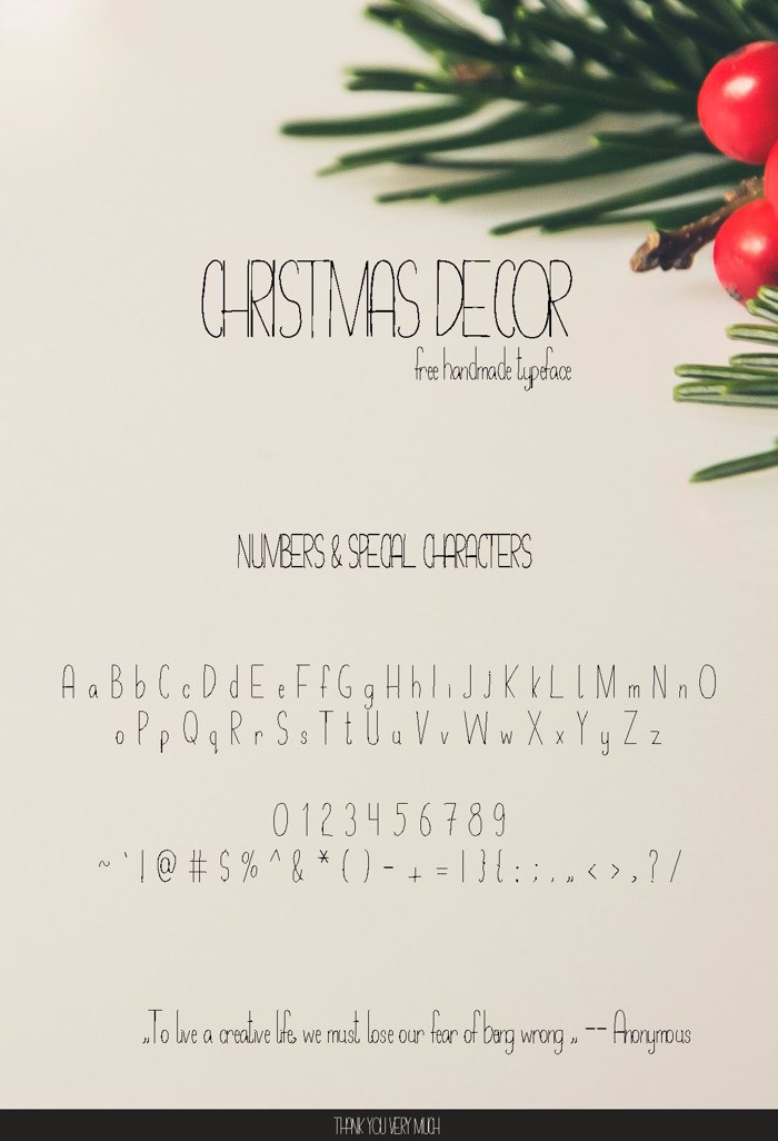 Christmas Decor Font poster
