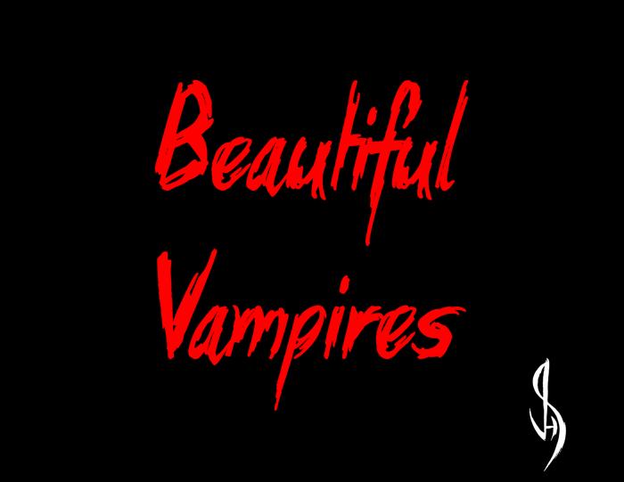 Beautiful Vampires Font poster