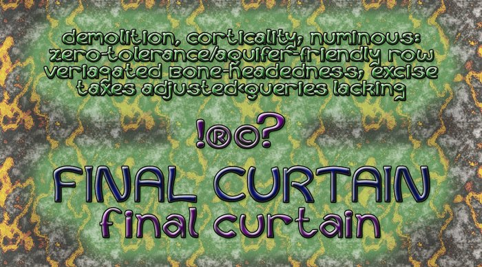 Curtains Final Font poster
