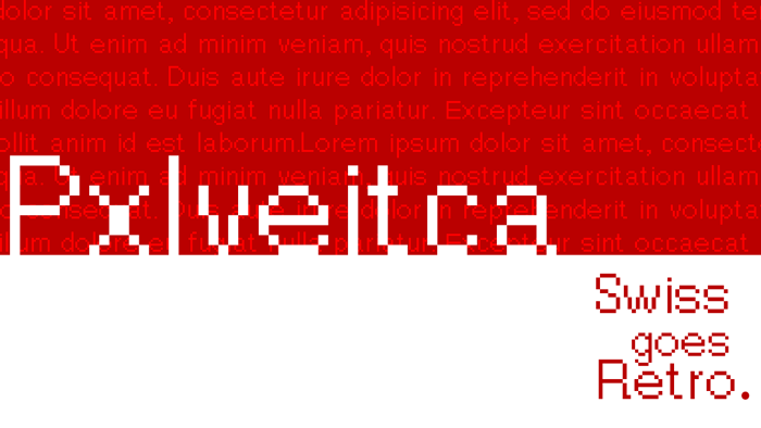 Pxlvetica Font poster