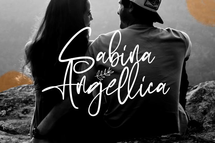 Sabina Angellica Font poster