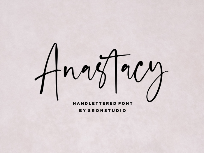 Anastacy Font poster