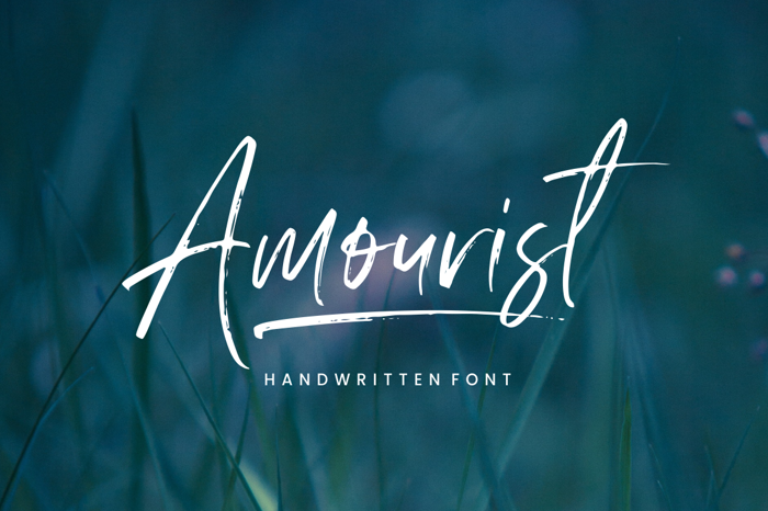 Amourist Font poster
