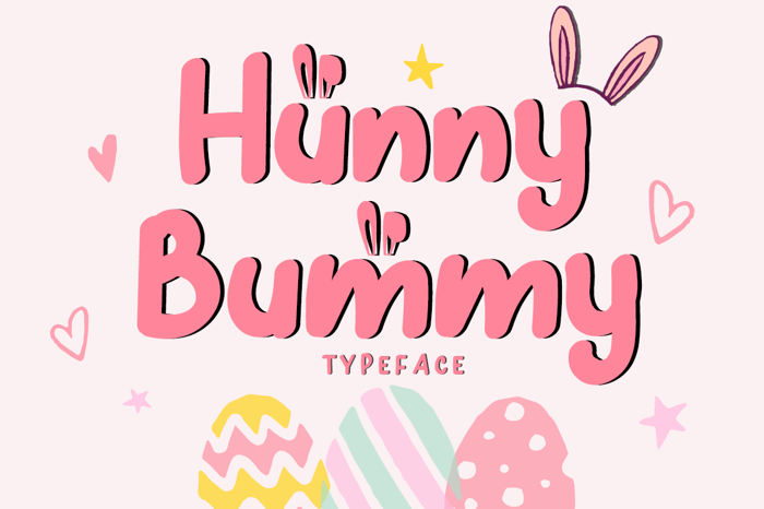 Hunny Bummy Font poster