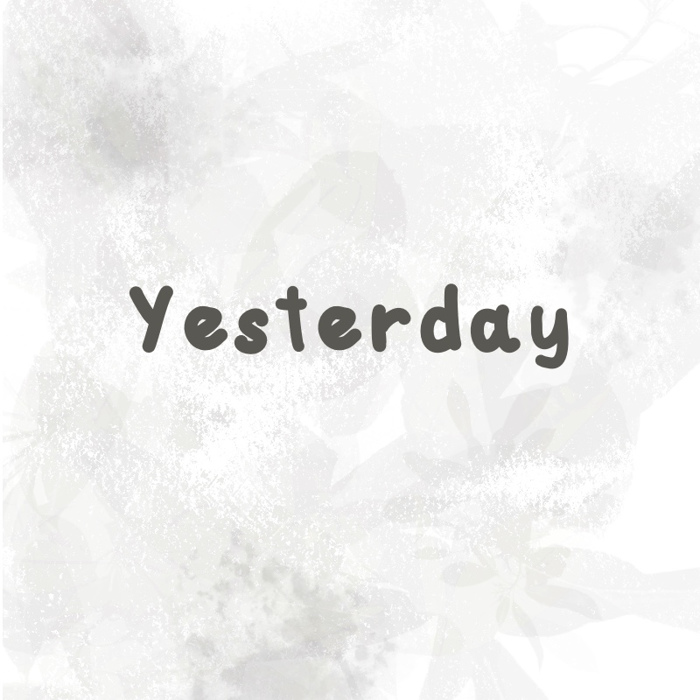 yesterday Font poster