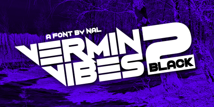 Vermin Vibes 2 Black Font poster