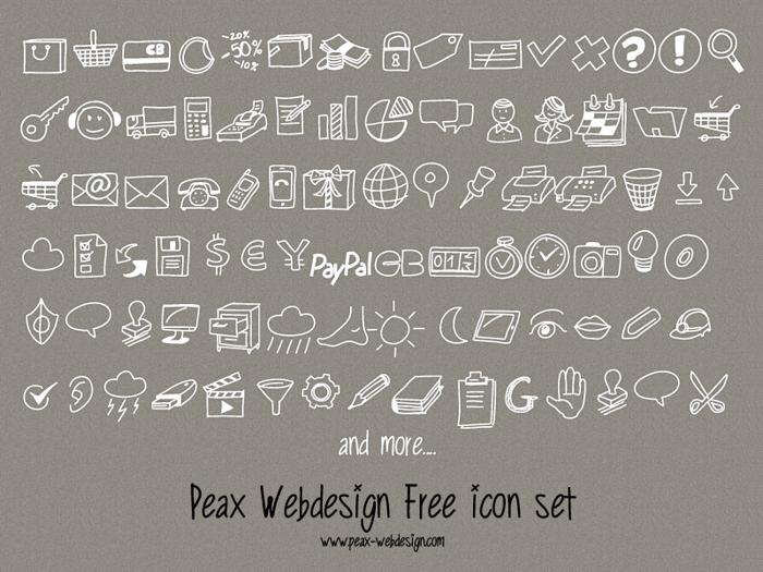 PeaxDrawnIcons Font poster