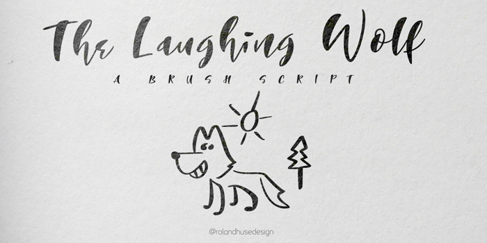 The Laughing Wolf. Font poster
