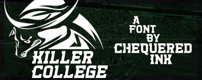Killer College Font poster