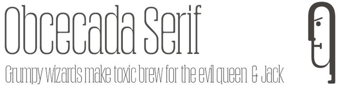 Obcecada Serif poster