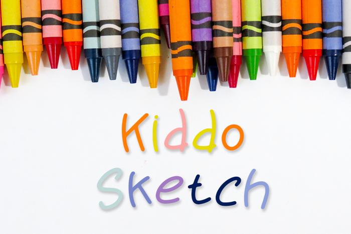 Kiddo Sketch Font poster