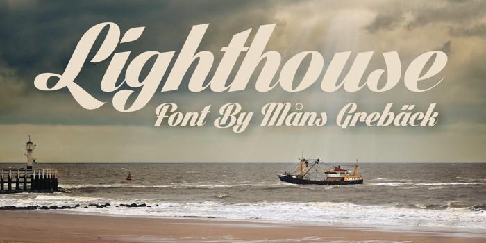 Lighthouse Font poster