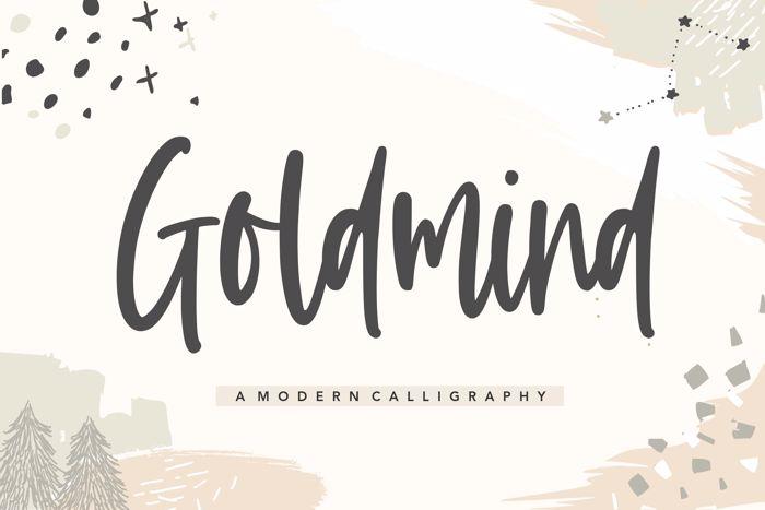 Goldmind Font poster