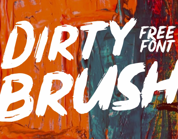 Dirty Brush Font poster