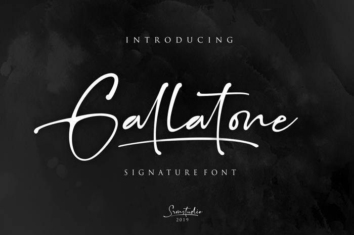 Gallatone Font poster