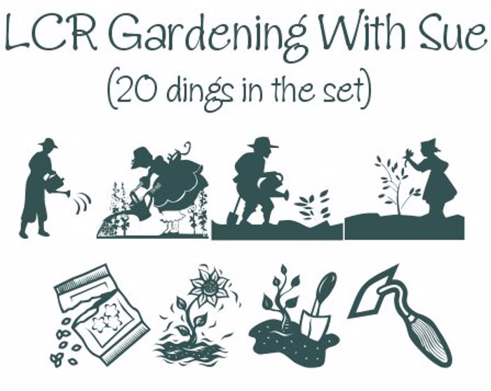 Gardening With Sue Font poster
